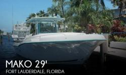 Actual Location: Fort Lauderdale, FL - Stock #110662 - This vessel was SOLD on September 19.If you are in the market for a fishing, look no further than this 1995 Mako 295 Center Console with Cuddy, just reduced to $24,900 (offers encouraged).This boat is
