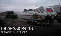 Actual Location: Springfield, NE - Stock #082249 - If you are in the market for a high performance, look no further than this 1995 Obsession 33, just reduced to $40,000 (offers encouraged).This vessel is located in Springfield, Nebraska and is in great
