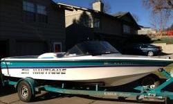 1995 Ski Nautique tournament inboard closed bow in pristine condition with PCM V8 310hp EFI inboard and matching custom Eagle single axle trailer. Package includes Perfect Pass tournament speed control, heater, stereo with 6 disc CD changer. One owner