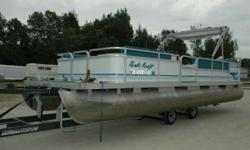 Are you looking for a full length pontoon boat that holds a boat load of people? Wellhere it is!! This pontoon boat is in decent shape, and is looking for a new owner to enjoy sunny days on the water. Powered by a 2007 Evinrude 40 E-TEC it will give you