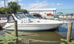 This 1995 Sea Ray 290 Sundancer is great for overnight stays or long weekend trips. Pushed by Twin Mercruiser 4.3L motors means youll have plenty of power. Full galley including Microwave, Stove, Refrigerator, and Sink.  Brand new camper canvas
