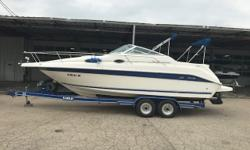 This Sea Ray 250 Sundancer is ready for the water. A great family cruiser for Lake Michigan or the Chain O Lakes. Trades considered. EO 5.7L BRII (210 HP) STERN DRIVE Additional Equipment: 5.7L BRII (210 HP) STERN DRIVE. Engine(s): Fuel Type: Gas Engine