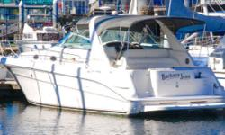 Turn key and ready to cruise this well cared for Searay has low hour rebuilt long block 350 MerCruiser engines, new Velvet drive transmissions, new risers etc Full camper back canvas, swim platform with transom gate for easy boarding, inverter, Heater