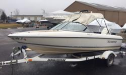 Great first boat. Trades Considered. General Options BIMINI TOP BL0487A MOORING COVER STANDARD USED BOAT POLICY STEREO TRIM TABS Additional Equipment: BIMINI TOP;BL0487A;MOORING COVER;STANDARD USED BOAT POLICY;STEREO;TRIM TABS. Engine(s): Fuel Type: