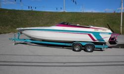 1995 Velocity 260 Thoroughbred ? Mercruiser 502 500HP Engine ? Aluminnum Swim Platform W/ Ladder ? Captin Call-Switchable Exhaust ? External Hydraulic Steering ? Cockpit Cover ? Mechanical Outdrive Indicator ? Dual Controls ? Dropout Bolster Seats ?