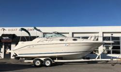 Vessel has ONLY been in fresh water! MerCruiser 454 cid, 7.4LX MPI fuel-injected engine, aprx 1,265 hours Bravo III dual-prop sterndrive w/stainless props EZ Loader 2-axle bunk trailer w/spare tire Halon (2) Batteries w/switch Battery charger ? new in