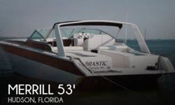 Actual Location: Hudson, FL - Stock #002319 - EXTREME PERFORMANCE WITH COMFORT PLUS! MUST SEE!In one word: 'Awesome!' Based on the race-proven Cary 50 deep V hull and the big Mercruiser 502s, the Merrill Ultima 53 is all about performance. This one-off