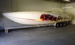1996 Apache Warpath PRICE DROP TO $79,500 - (MORE THAN $350,000 TO REPLACE) ZERO-TIMED ENGINES NEW COCKPIT UPHOLSTERY This Apache is powered by twin custom built Chief engines producing 620HP each!!! Mercury Racing XR drives and matching Lake X Lab