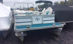 1996 Aqua Patio 24' pontoon, powered by a Mercury 60 HP 2-stroke. Mercury is noisy but runs and shifts. Interior needs attention. (no in house financing available on this model year) TITLE STATUS: CLEAN. Engine(s): Fuel Type: Gas Engine Type: Outboard