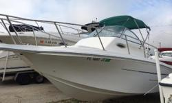Location: Cape Coral, FL, US 1996 Baha Cruiser 24 WA with a Volvo 4.3L The 240 Baha Cruiser is a well laid out boat for fishing or for cruising. It has a large cockpit with a lot of storage on the deck and below in the cabin. The helm is on the starboard
