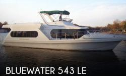 Actual Location: Lake Ozark, MO - Stock #068243 - If you are in the market for a motor yacht, look no further than this 1996 Bluewater 543 LE, just reduced to $114,900 (offers encouraged).This vessel is located in Lake Ozark, Missouri and is in great