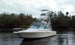 Recent Price Reduction!!!! Serious Fishermen must take a look !! This Cabo is professionally rigged for bottom fishing with her electric reel outlets; in addition, also rigged for casting from the tower for those tasty Cobia.  April is
