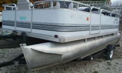 NEW Winter Price ONLY $7,295! This pontoon is in very good condition and is the very popular 4-corner fishing model that relaces the conventional fishing boat, with more room and more seating for everyone. Fish in comfort and style as you fish for your