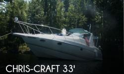 Actual Location: Gilford, NH - Stock #018052 - If you are in the market for a cruiser, look no further than this 1996 Chris-Craft 33 Crowne, just reduced to $33,600.This vessel is located in Gilford, New Hampshire and is in good condition. She is also