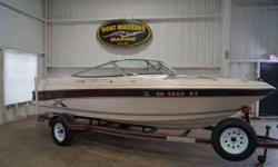1996 EBBTIDE 192XL with a Mercruiser 4.3L V-6 Engine and color matched trailer! with a Mercruiser 4.3L V-6 Engine! This boat has been kept indoors and meticulously maintained. Very clean inside and out. Full cover, bimini top w/boot, transom tow hook,