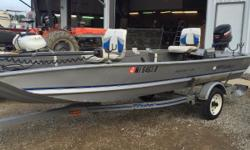 This is a great little boat and ready for the water with a Mercury ELH 25.  Nominal Length: 15'