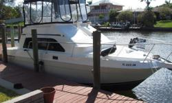 This sedan bridge is a cross over will do it all. The Large Cockpit will fish well and with large full beam salon and wonderful forward Master Stateroom, Twin Yanmar diesel make this vessel a special buy. Yanmar Marine Diesel engines with <1300 hrs and