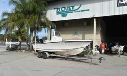 1996 Mako 23 CC $18,900 Stock # 8014 EXCELENT FINANCING AVAILABLE This boat includes the following options: Center Console with Custom quality windshield ..real tempered glass in metal frame...beautifully crafted. All upholstery recently redone in high