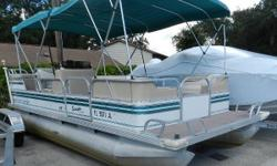 1996 Monark SunSpa Pontoon Boat. Equipped with a Honda 75hp outboard.  Nominal Length: 20' Length Overall: 20' Beam: 8 ft. 0 in.