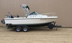 Just In!! Very clean Pursuit 2150 walk-around, Yamaha 150 and Yamaha 9.9 Kicker engine. Lots of nice Equipment, Call today for Details. Nominal Length: 21' Length Overall: 21.5' Beam: 8 ft. 0 in. Stock number: U7007SK