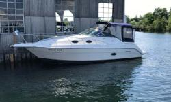 This is a clean 27-foot cruiser that can be used for a day boat or stay over for the weekend. This is a fresh water only boat. It is powered by a Volvo 454 engine that has roughly 900 hours on it. Canvas is in excellent condition, upholstery is nice, and