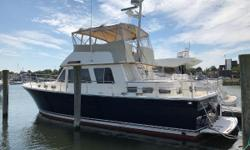 This boat has been enjoyed and cared for by good owners, has nice equipment, a beautiful teak interior, and is ready to go. Nominal Length: 43' Length Overall: 43' Drive Up: 4.3' Engine(s): Fuel Type: Other Engine Type: Inboard Draft: 4 ft. 3 in. Beam: 15