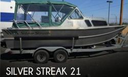 Actual Location: Anchorage, AK - Stock #083014 - Excellent Condition, Aluminum HullThe 1996 Silver Streak 21 Cuddy Cabin is a great aluminum hull vessel. Can travel anywhere you need when it comes to finding the perfect hidden fishing holes.She is powered