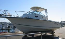 Price just reduced.Readyto fish or take your family cruising in this walk around cuddy I/O powered by economical Volvo 5.7 GS gasoline engine with Volvo SX Cobra Drive. Fresh manifolds, risers, exhaust bellows and flappers, fuel pump, water