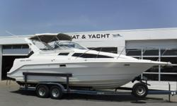 VESSEL HAS ONLY BEEN IN FRESH WATER! MerCruiser 7.4L engine, no hour meter Bravo III dual-prop sterndrive Metal Craft 2-axle trailer w/electric brakes, spare tire, custom rims & side guides (new tires 3 years ago) Trailer bearings repacked 3 years ago