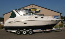 1997 Regal 292 Commodore with Twin Mercruiser 5.7 L Alpha Drive Engines. EXCELLENT CONDITION! 450 Hours.. Air/Heat, GPS, VHF Radio, Snap In Carpet, Stainless Props Dual Cook Top, Coffe Maker, Microwave, Sun Pad, Full Storage Cover, Full Enclosure. Very