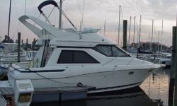 3258Avanti Command Bridge with upper and lower stations. Twin 5.7 L Mercruiser 250hp engines withBravo II stern drives. Roomy accommodations and great styling make this boat attractive. Two stateroom interior and stand-up shower in head and