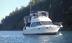 Description For full and complete specifications click here. Introduction This 1997 Bayliner 3587 Motor Yacht was a contemporary aft cabin motor yacht that broke new ground for midsized cruisers with innovative 3 stateroom interior with 2 full heads. The