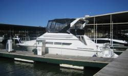 One of Carvers most popular models. Very spacious and clean, an all around wonderful bridge boat. Stock ID: 92354Specs Length Overall (LOA): 38' Features and OptionsCanvas - Bimini Top, Side & Aft Curtains Safety Group - CO Detector, Windlass