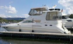 1997 Sea Ray 420 Aft Cabin Call owner Logan at 724-263-1163. Freshwater, low hour sea ray aft cabin. Approx 650 hrs on twin mercruiser 454 engines. Approx 1200 hrs on 8.5kw Westerbeke generator. Four new batteries, new sea water impeller in generastor.