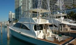 Accommodations When introduced the Ocean 60 Super Sport was the fastest production boat of that size. This is a 4 stateroom design with galley up and 3 heads with showers. As you enter the salon through a sliding glass door. An L-shaped lounge is on the