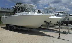 Harbor View Marine in Pensacola FL just received this beautiful Baha 1997 walk around 271 Fish. This boat has been well taken care of. This 1997 Baha 271 WAC only has 80 hours on the rebuilt Volvo Penta 7.4L and a strong 400 horse powered