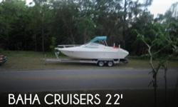 Actual Location: Inverness, FL - Stock #036724 - Versatile layout with a great ride! Volvo 3.0L brings the power and fuel economy PLUS BRAND NEW TRAILER!This Baha 225 Weekender has a great layout! Very popular for a weekend away or just hitting the beach.