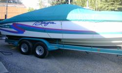 1997 BAJA 272 very nice condition with low 130hrs and only 20hrs on fresh 454 magnun with supercharger and 850 holly carb. Drop down bolster seats, popup cleats, full sunbrella cover, Bimini, cockpit cover, and foul weather cover. bravo I out drive with