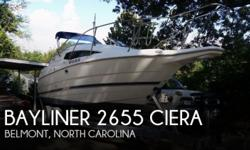 Actual Location: Belmont, NC - Stock #048398 - If you are in the market for a cruiser, look no further than this 1997 Bayliner 2655 Ciera, just reduced to $18,000 (offers encouraged).This boat is located in Belmont, North Carolina and is in good