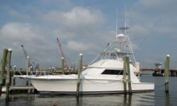 JUST REDUCED $200,000.00 WOW....SHE ONLY HAS 2300 Original Hours, that is less than 200 hours per year! A proven tournament winner this Bertram 54 is built on a rugged deep-V hull with cored hull sides and plenty of beam. Superb rough - water