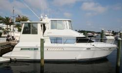NOW Asking $143,900, Don't Miss this Deal! Fully Enclosed Bridge & Aft Deck Totally Air Conditioned. Twin 450 Cummins - 13.5kW Upgraded Generator - Full Electronics Package - Totally Loaded & Ready to Live-aboard. The only fully enclosed Carver on the