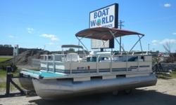 1997 Crest 18' Pontoon & 40HP Mercury Motor. Runs Great! This 18' Pontoon Features, Two Front Swivel Seats, Flip Back Bench Seat With A Live Well, Rear Bench Seat With Storage, Carpeted Sun Deck, Kenwood Radio With SIRIUS Radio Capabilities, USB Port And