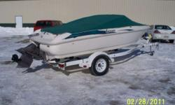 Looking for a nice runabout look no further. We have a nice ski boat that will serve you and your family well. Many hours of summer filled fun awaits you with this boat. Stop in and see or call us for more details. Folks this boat wont be here long at