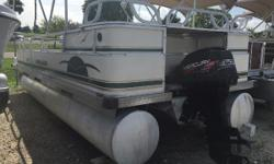 1997 Monark Pontoon with a Mercury 60  This has been a one owner boat and freshwater used only. Give us a call or stop by @ Boater's Paradise Nominal Length: 20'