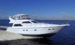 Neptunus Flybridge Motoryacht, that was a fresh water boat until 2014. Many recent updates enhance her stunning interior, fresh bottom paint and new polish makes her exterior gleam. Cruise in comfort at 25 knots or 10 knots averaging 1 gallon per mile!