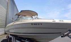 Price just reduced! This boat offers big-boat fun with small-boat economy. Survey completed 3 years ago. Outdrive serviced in 2018 and Seawater impeller replaced. All service records available. Nominal Length: 26' Length Overall: