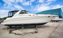 Priced to sell and ready to provide endless days of worry free boating. The Sundancer has brand new custom camper canvas, isinglass, bottom paint, and snap-in carpet in August 2018. This Sea Ray 370 has a fresh buff and is ready to hit the water! All