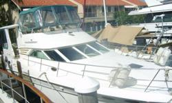 1997 Sea Ray 420 Aft Cabin - Excellent Condition - Powered by Twin Diesel CAT's, RAYMARINE Electronics - GPS, Autopilot, Radar, etc. 3 stateroom / 2 head layout. Owner Moving Up, looking to move quickly, CALL WITH AN OFFER! Salon / Galley   Full size