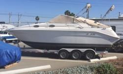 The Sea Ray 270 Sundancer Special Edition is a super family boat that everyone will love!! She is very versatile allowing you to cruise and entertain, while allowing overnight accommodations for up to 6. The cockpit provides comfortable seating for your