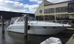 This nice 370 DA has been buffed and waxed every year. It had new camper canvas, impellors, rotors and caps, last year. It has new props, vacuflush pump and cockpit carpet this year. Cabin carpet was just professionally cleaned. Current owner has had it 5